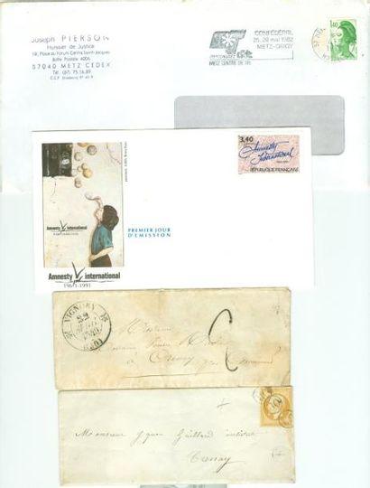 PHILATELIE: Lot de lettres, Marques Postales...