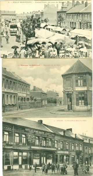 48 CARTES POSTALES NORD: Villes, qqs villages,...