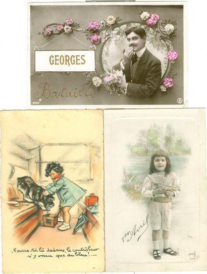 199 CARTES POSTALES FANTAISIES, ILLUSTRATIONS...