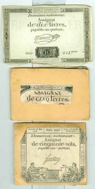 196 ASSIGNATS: 104-10 Livres dont 2 encadrés...