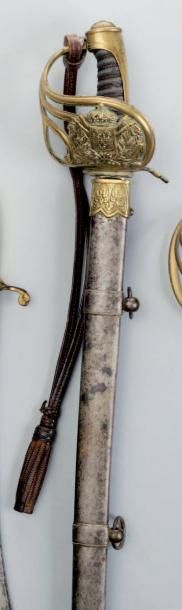 Sabre de garde du Corps du Roi, modèle 1815....