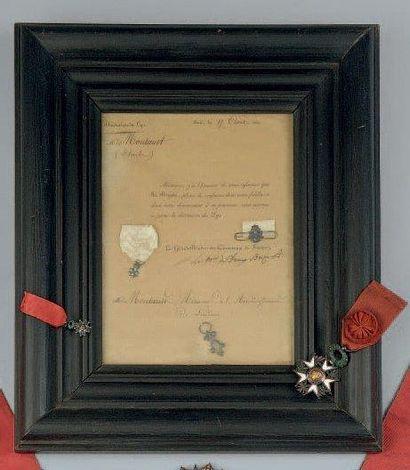 Décoration du Lys. Lettre imprimée, autorisation...