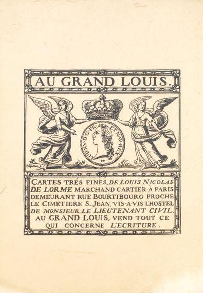 PAPILLON Au Grand Louis. Illustration pour...