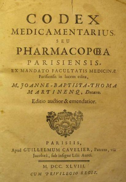 CODEX medicamentarius sive pharmacopea parisiensis,...