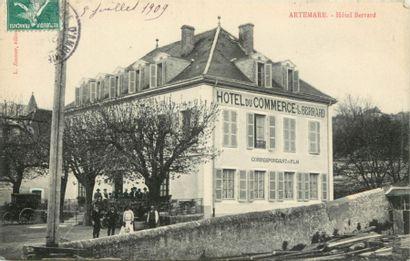 57 CARTES POSTALES LES HOTELS : Divers Départements....