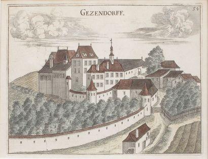 Deux vues de ville «Gezendorff» et «Roth»...