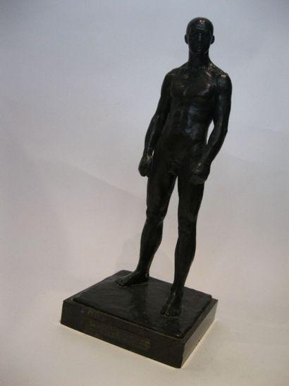 Paul LANDOWSKI (1875-1961) Georges Carpentier, Champion du monde mi-lourd, 1920....