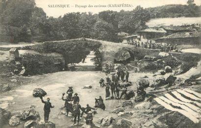 31 CARTES POSTALES MOYEN-ORIENT : Salonique-2cp,...