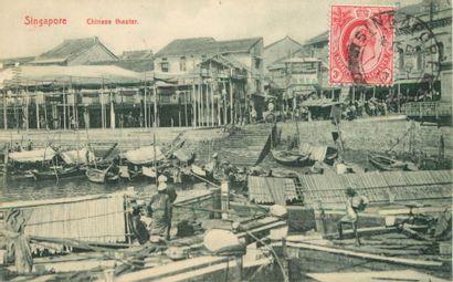 49 CARTES POSTALES ASIE : Singapore-2cp,...