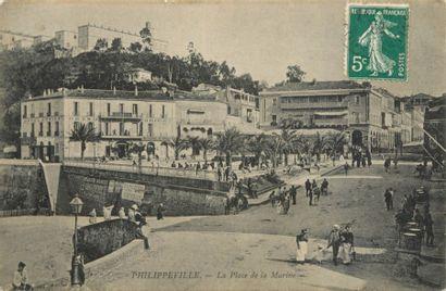 563 CARTES POSTALES AFRIQUE DU NORD : Algérie-74cp,...