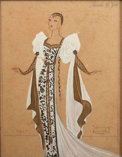 H.R. FOST- Jenny CARRE (Ecole du XXème siècle)....