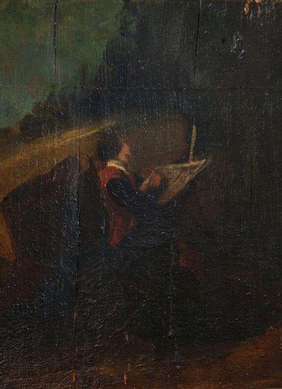 Ecole française du XIXème siècle.  Le peintre....
