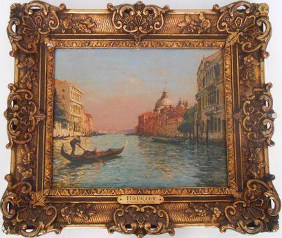Gaston BOUCART (1878-1962).  Canal à Venise....