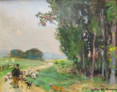 Jules René HERVE (1887-1981)  Le Berger  Huile...