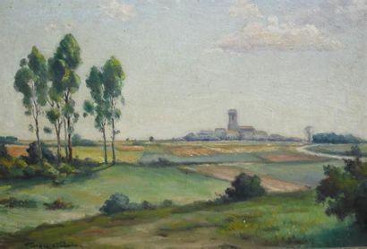 Georges CASTAING (1895-?)  La Beauce  Huile...