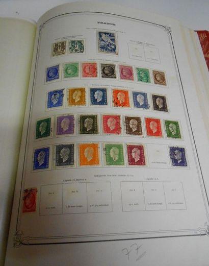 PHILATELIE : Album. France oblitérés, Période Semi-Moderne et Moderne 1900 à 1972....