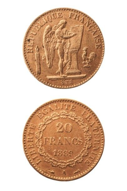 NUMISMATIQUE : 20Frs (A) 1889, IIIè République,...