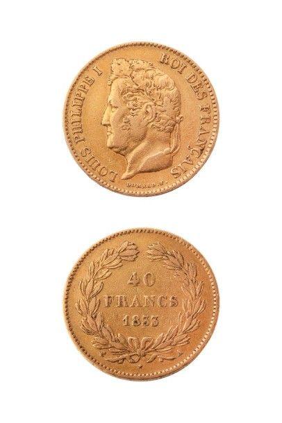 NUMISMATIQUE : 40Frs (A) 1833, Louis Philippe...