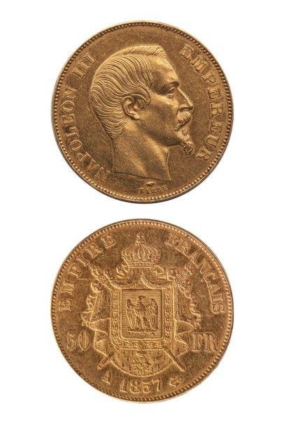 NUMISMATIQUE : 50Frs (A) 1857, 2nd Empire,...
