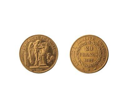 NUMISMATIQUE : 20 Francs 1897 (A), Or, Génie,...
