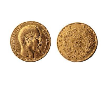 NUMISMATIQUE : 20 Francs 1855, Or, Napoléon...