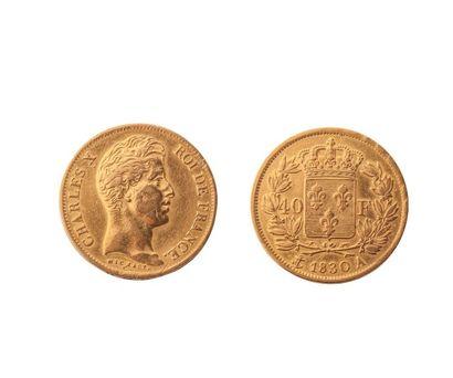 NUMISMATIQUE : 40 Francs 1830 (A), Or, Charles...
