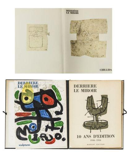 CHILLIDA - DERRIERE LE MIROIR. N°242. Paris, Maeght, 1980, in-fol., en feuilles...