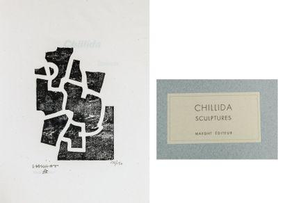 CHILLIDA (Eduardo). Sculptures. Paris, Maeght, 1968, in-4, en feuilles sous couv....