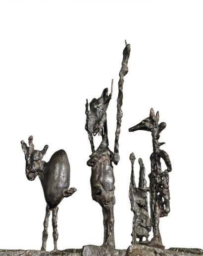 GERMAINE RICHIER ( 1902 – 1959 ) L'ÉCHIQUIER, PETIT 1955 Bronze à patine foncée (fonte...