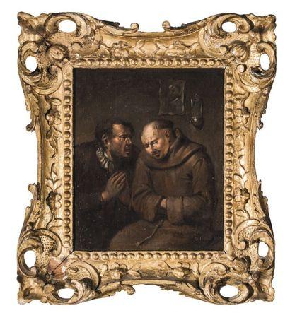 Egbert van HEEMSKERCK dit le Jeune (Haarlem vers 1634 - Londres 1704)  Les cinq...