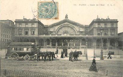 36 CARTES POSTALES LES GARES : Paris. Dont