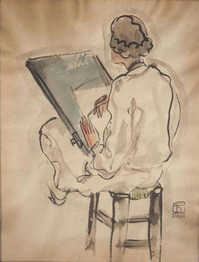 SANYU (Chang Yu) (1901-1966) Élève à la Grande...