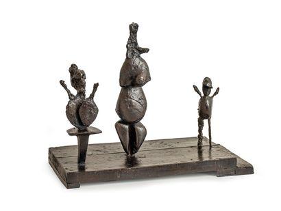 Germaine RICHIER (1902-1959) Trio II, 1956. Bronze...