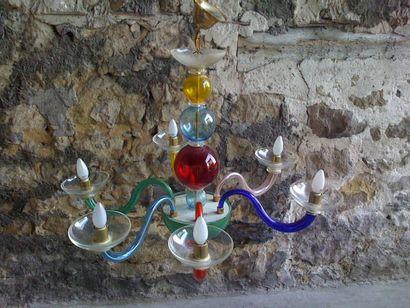 Lustre MURANO moderne, en verre de Venis...