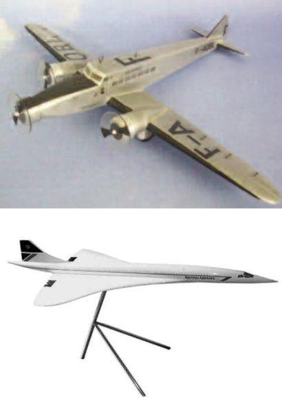 1 MAQUETTE : Dewoitine 338 Air France. Maquette...