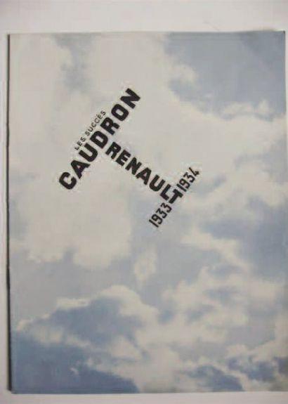 1 CATALOGUE : Caudron Renault. Catalogue...