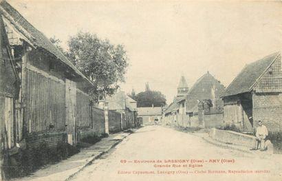 475 CARTES POSTALES OISE : Villes, qqs villages,...