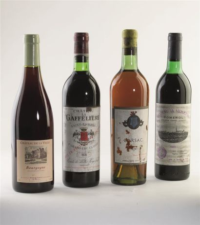 4 bouteilles de Barsac, Paul Janet et Fils,...