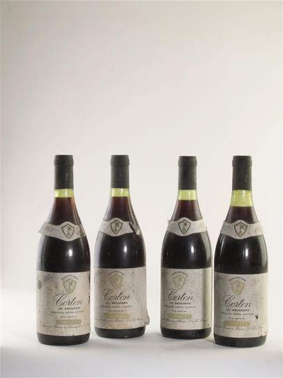 4 bouteilles de Corton, Les Bressandes, Mommessin,...