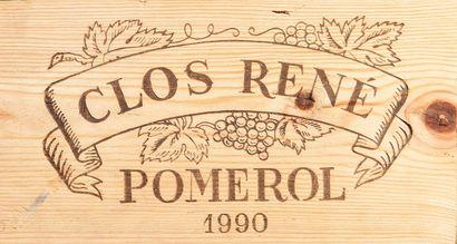 12 bouteilles de Clos René, Pomerol, 1990,...