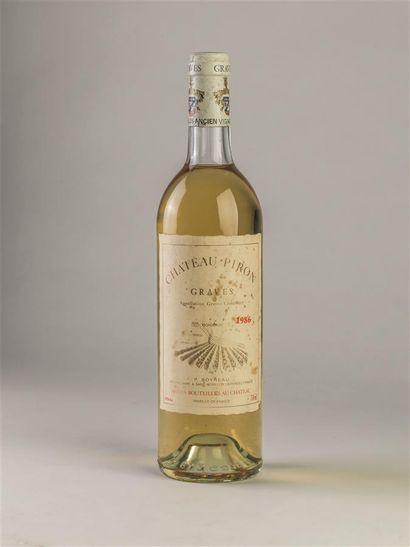 1 bouteille de Château Piron, Graves, blanc,...