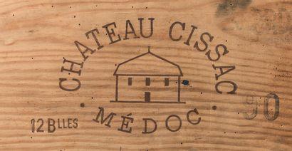 24 bouteilles de Cissac, Médoc, 1990, en...