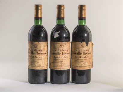 3 bouteilles de Château Léoville Poyferré,...