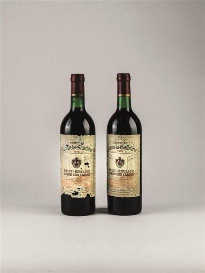 2 bouteilles de Château Canon La Gaffelière,...