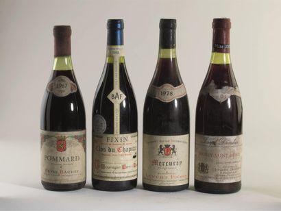 2 bouteilles de Mercurey rouge, 1978. 4 bouteilles...