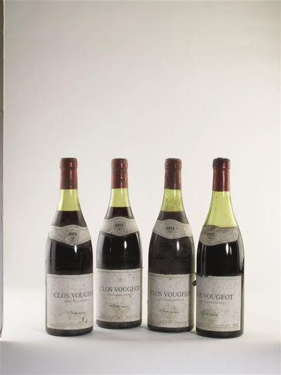 4 bouteilles, Clos Vougeot, appellation contrôlée,...