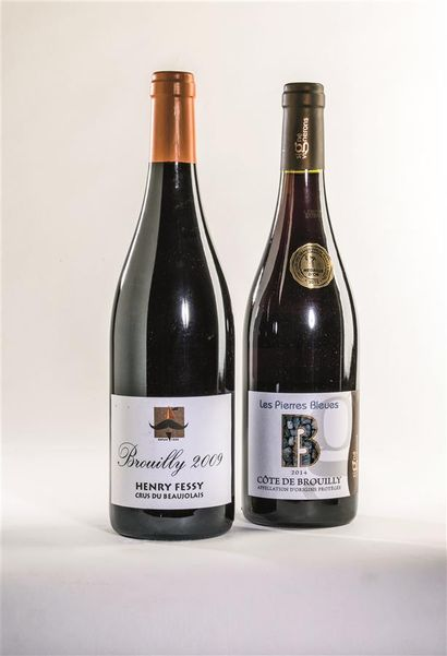 15 bouteilles de Brouilly, Henry Fessy, crus...