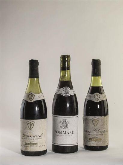 2 bouteilles de Pommard, Mommessin, 1982....