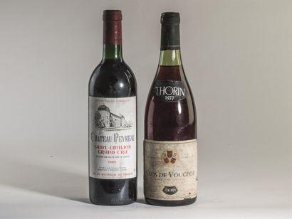 7 bouteilles de Château Peyreau, Saint Émilion...