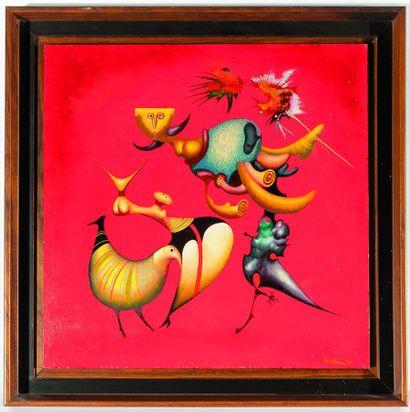 Jules PERAHIM (1914-2008). Oiseaux mouches...